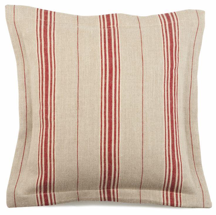 Cushion Oxford Edge Cardinal Ticking