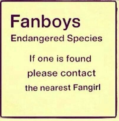 Am I considered a fan boy? I mean, I'm a boy, but do fangirls and fanboys do different stuff?