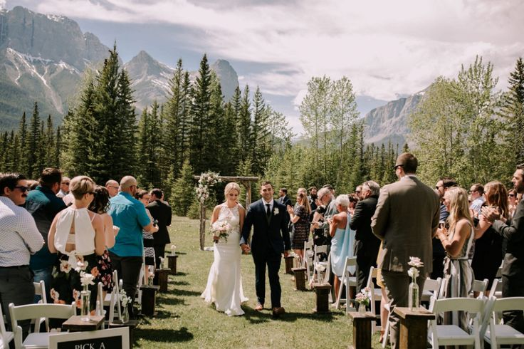 Canmore outdoor wedding ceremony canmore ranch in 2020