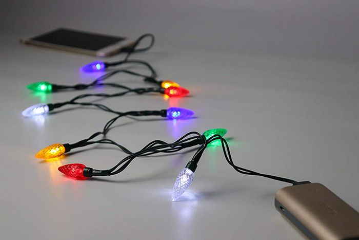 There S A Phone Charger With Christmas Lights And You Didn T Think You Needed It Until Now Phone Charger Phone Charging Led Christmas Lights