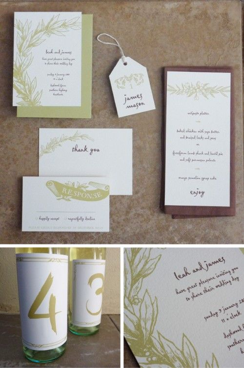 Free printable rustic wedding stationery... or use it for anything! I used the menu template for a dinner party.