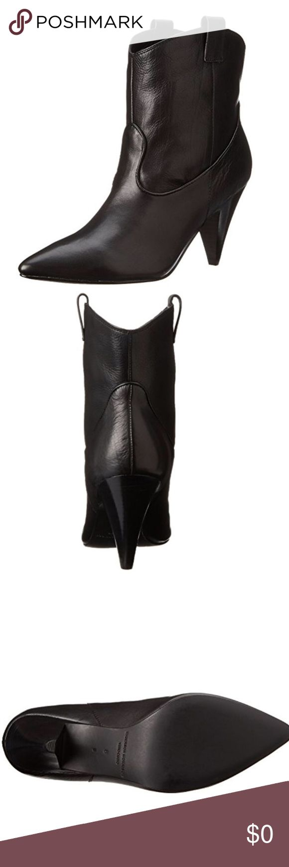 """Sigerson Morrison $550 Felix 2 Black LEATHER Boots New with box.   Sigerson Morrison Felix 2 Black Cowboy Western Ankle Boots  Size: 7 Retail: $550.00  Heel Height: 3 1/4"""" Platform Height: 1/4"""" Shaft Height: 6 1/2"""" Shaft Width: 11"""" Sigerson Morrison Shoes Ankle Boots & Booties"""