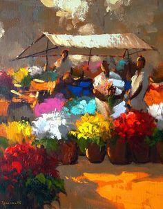 pinturas de feira de flores - Pesquisa Google