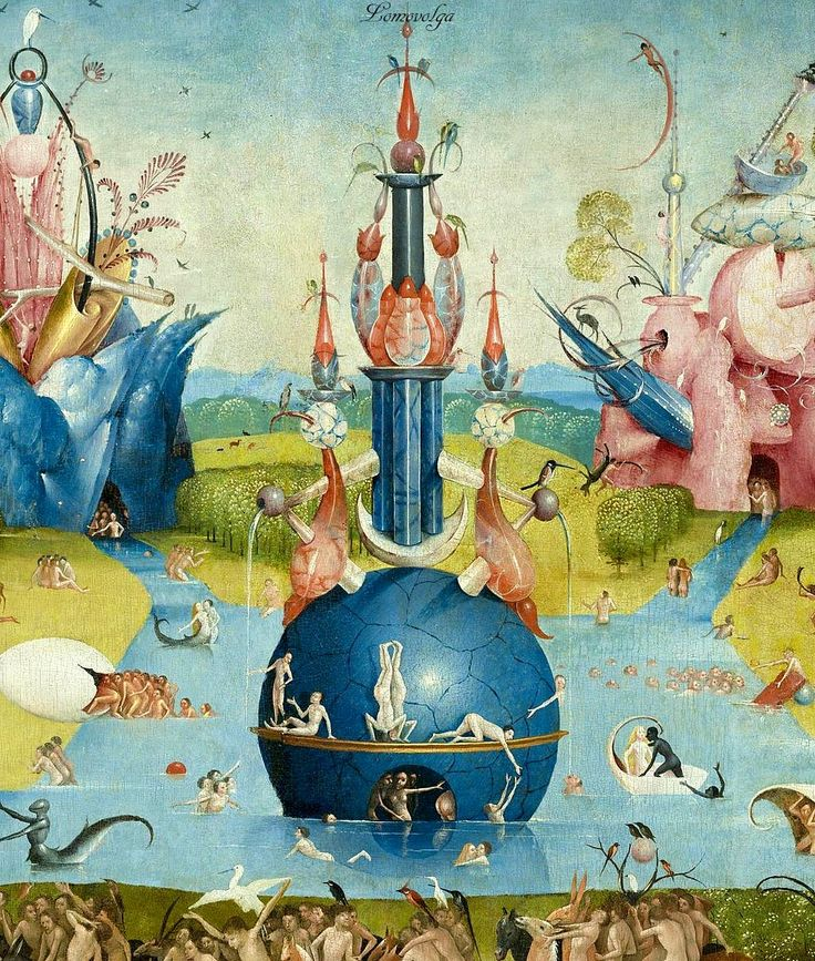 Marvelous Hieronymus Bosch circa u The Garden of Earthly Delights central panel