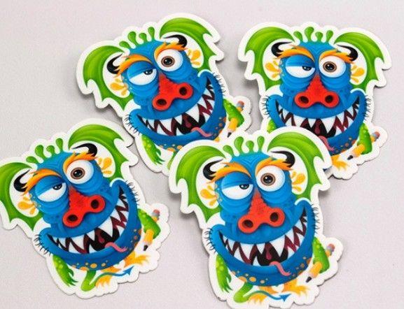 35 Contoh Desain Sticker Sebagai Media Promosi yang Efektif - 33. Creative Monster Stickers