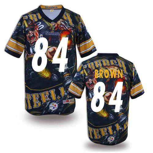 d8fad2ffbc8 ... Antonio Brown Mens Elite Black Jersey Nike NFL Pittsburgh Steelers  Fanatical Version 84 ...