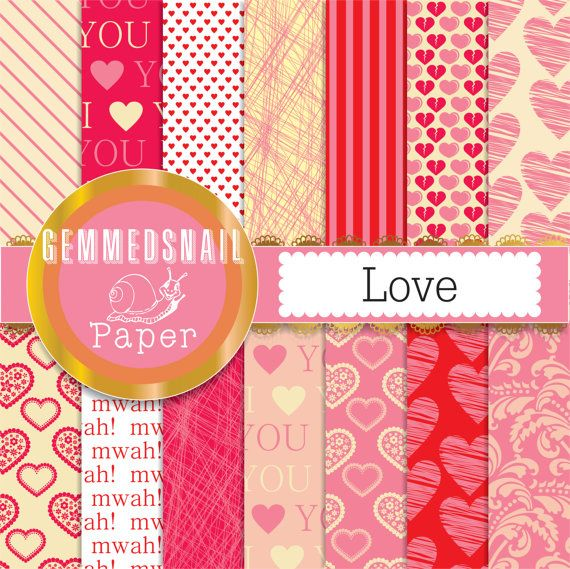 Hey, I found this really awesome Etsy listing at https://www.etsy.com/listing/175426324/love-digital-paper-love-14-valentines