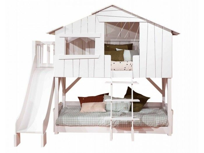 Koyketa Treehouse Bunk Bed With Slide Bed With Slide Bunk Bed With Slide House Bunk Bed