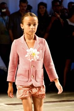 Christina Rohde showed a more graphic print in warm pinks and orange tones at CPH Kids for summer 2013