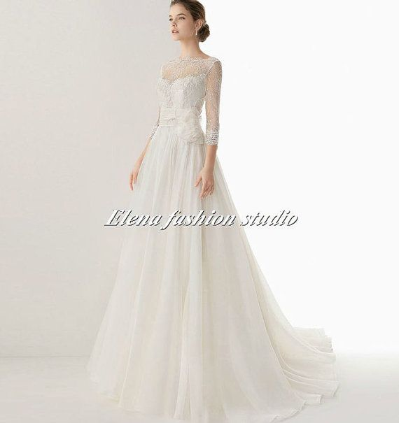 Lace Wedding dressLace wedding Gown  Bridal by Elenafashionstudio, $359.00