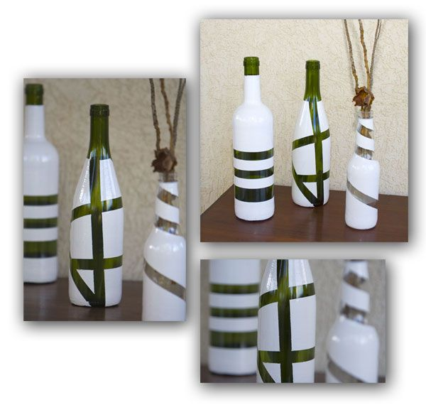 Como reciclar garrafas de vidro em lindos vasos                                                                                                                                                                                 Mais