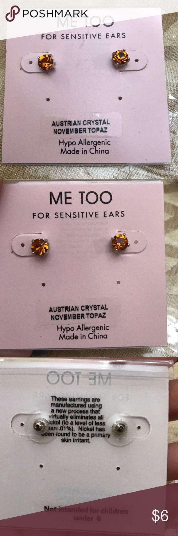 Me too Earings stud November earrings Brand new Earings  Birth stone color  November me too Jewelry Earrings