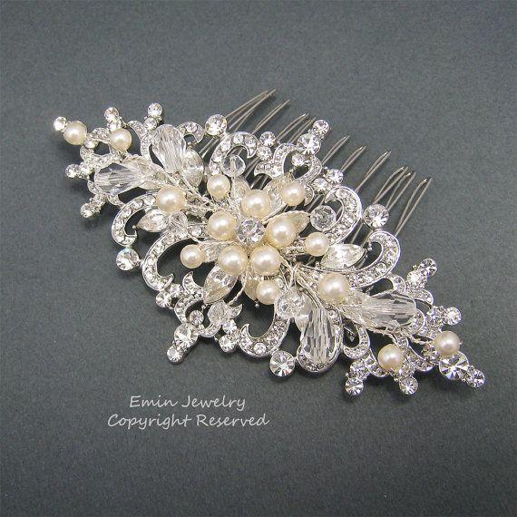 Wedding Hair Accessories Vintage Bridal Hair Combs by adriajewelry