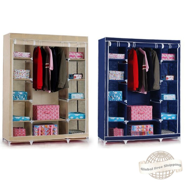 Large Portable Closet Organizer Storage Wardrobe Home