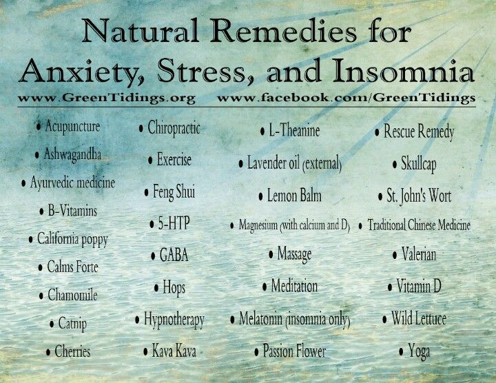 Natural Remedies for Anxiety, Stress & Insomnia