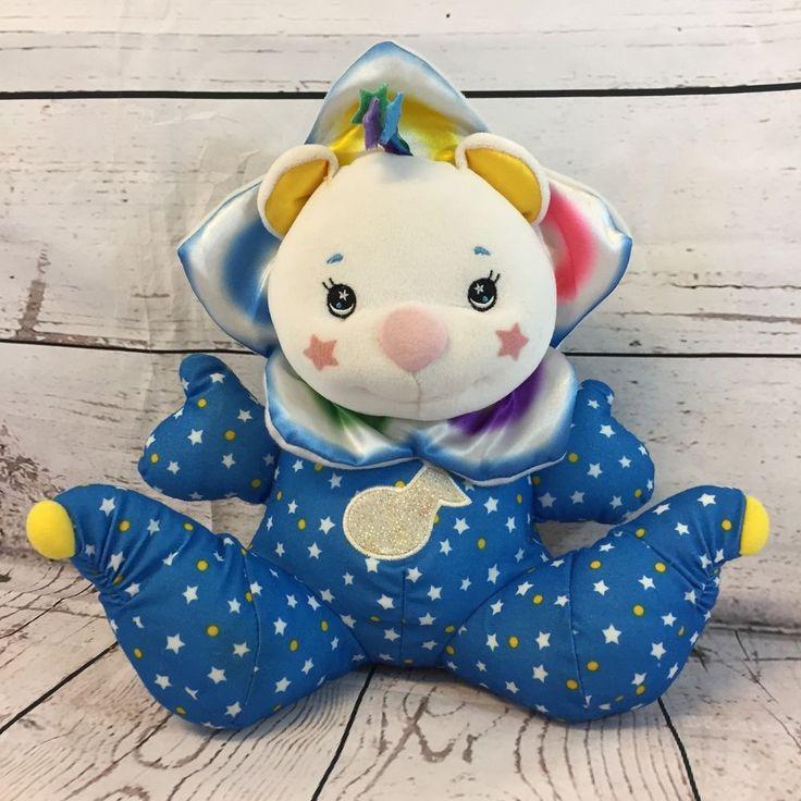 Fisher Price Starlight Light Up Musical Clown Bear Plush Stuffed Baby Toy Stars #FisherPrice