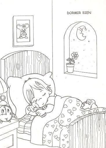 Spící Dítě, Omalovánky | Omalovánky