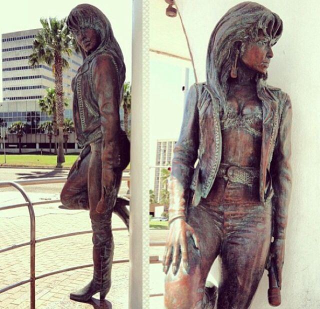 The Selena Statue at her Museum in Corpus Cristi Texas