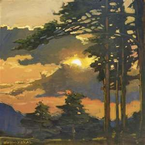 Mission Arts and Crafts CRAFTSMAN Pine Sunset - Giclee Fine Art PRINT of…