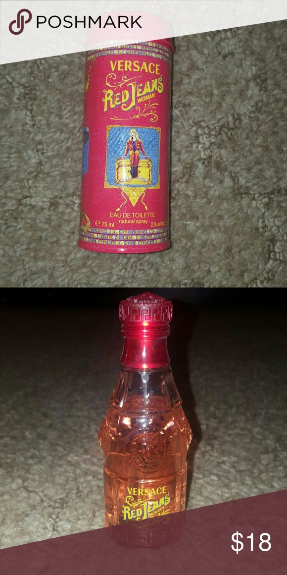 Versace Red jeans for women perfume 2.5fl oz Versace Red jeans eau de toilette. Only a small amount used.as seen in picture 2 Versace Other