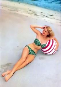 retro bandeau bikini top, 60s