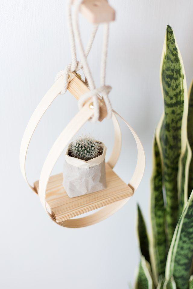 Plants can bring you health and happiness so it's a great idea to fill your home with them. When you run out of shelf space try this DIY teardrop planter!