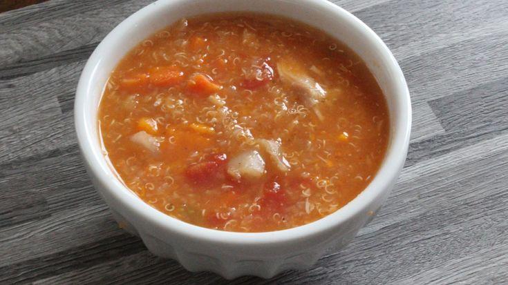 Soupe de quinoa au poulet à la mijoteuse