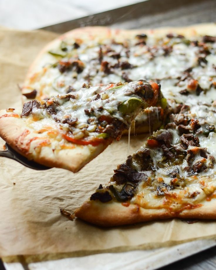 Philly Cheese Steak Pizza | With Fleischmann's Pizza Crust Yeast: Buttered Side Up