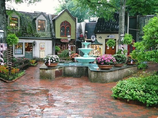 The Village Shops in Gatlinburg, TN... this is such a quaint little area to grab a cup of coffee and sit for a bit and people watch.