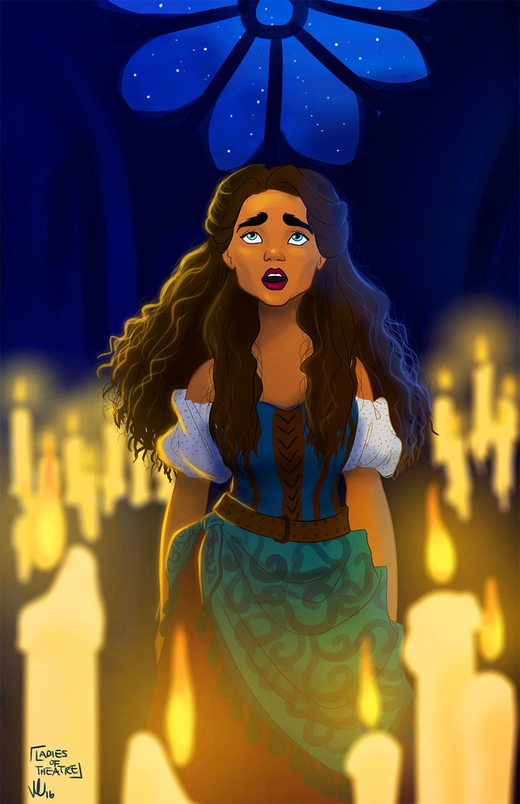 """I ask for nothing, I can get by, but I know so many less lucky than I; please help my people, the poor and down-trod; I thought we all were children of God…"" Day 247: Esmeralda (The Hunchback of Notre Dame)"