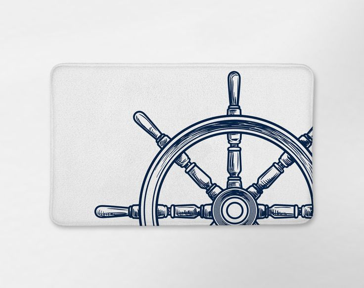 Nautical Wheel Bath Mat