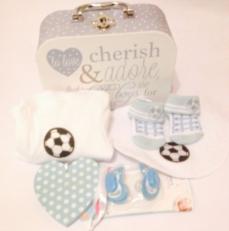 Baby boy football gift basket/hamper/ newbaby babyshower nappy cake  | eBay