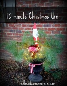 10 Minute Christmas Urn