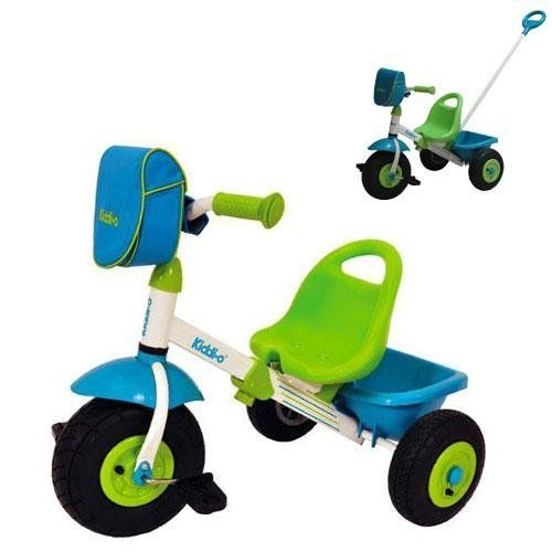 Kettler Tricycle - Air Tire Swift Kiddi-o Trike by Kettler. Save 30 Off!. $133.45. Kettler Tricycle - Air Tire Swift Kiddi-o Trike: The Kettler name is a name you can trust. 4 position Quik-AdjustTM straight tunnel tube frame 4 position adjustable ergonomic high back seat with hand hold Pneumatic tubeless air tires on sealed ball bearings Patented limited turn radius steering device and low center of gravity helps prevent tipping Deluxe handlebar bag for storage Removable rear bucket...