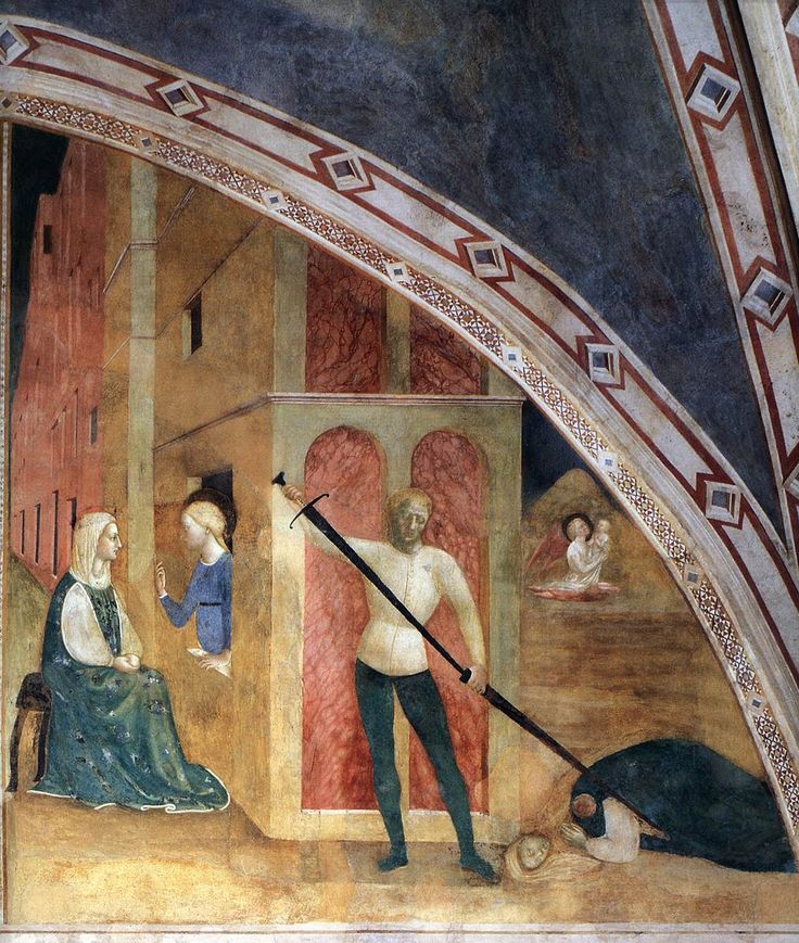 MASOLINO da Panicale Conversion and Beheading of Empress Faustina 1425-31 Fresco Castiglione Chapel, San Clemente, Rome