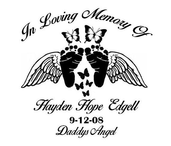 In memory decal by thedecaldepartment on etsy