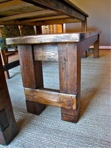 Farmhouse Bench.  Plan from Ana White. To go with my ana white inspired farmhouse table Peter is making.