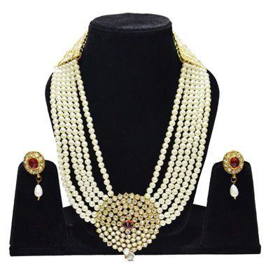 Buy Anjalika White Necklace Set by Anjalika, on Paytm, Price: Rs.945?utm_medium=pintrest