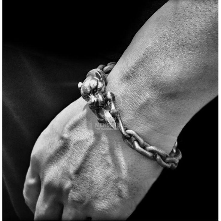 Cougar bracelet 925 Sterling Silver Lion Bracelets