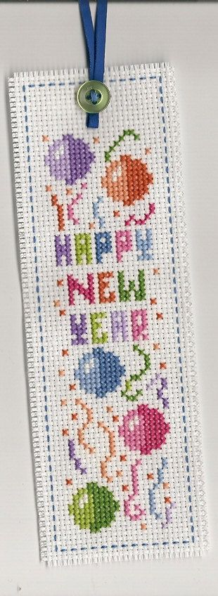 Finished Completed Cross Stitch  Bookmark by LoveKnotsAndMore, $10.00