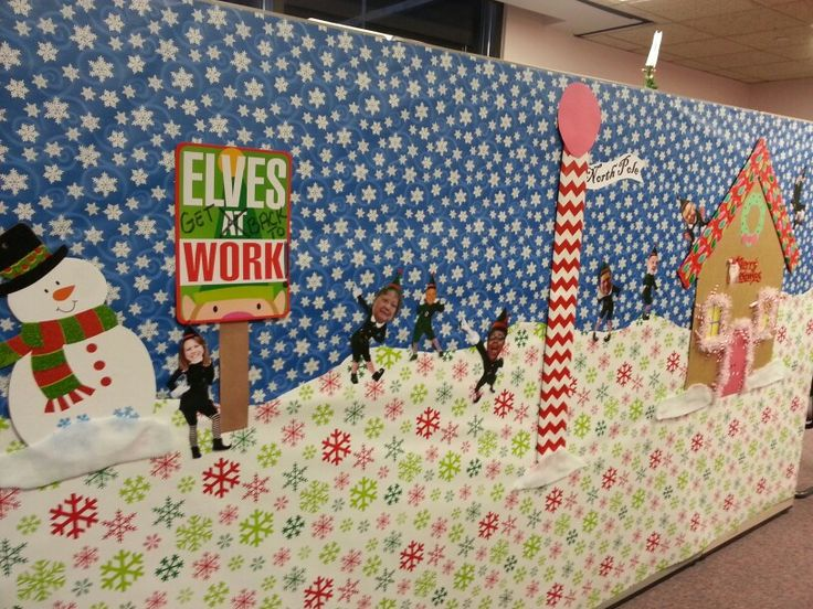 Elf Yourself Cubicle Decorations. Each Staff Member Was Elfed For This  Design. Fun At