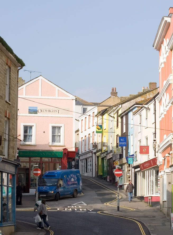 Falmouth - Market Street and High Street - Cornwall Guide Photos