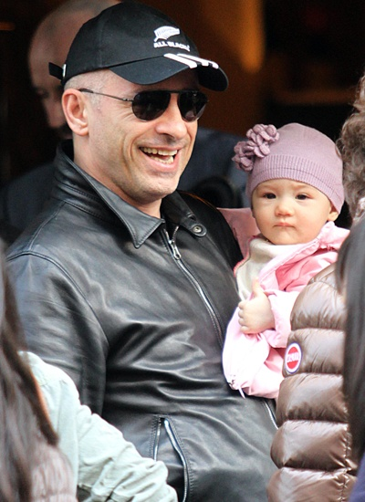 Eros Ramazzotti and his daughter Rafaella
