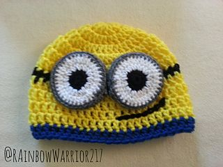 Minion Beanie pattern by Melanie Rosenborough ~ free pattern
