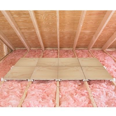 Add Flooring To Attic To Increase Storage Capacity. | Simple Home Ideas