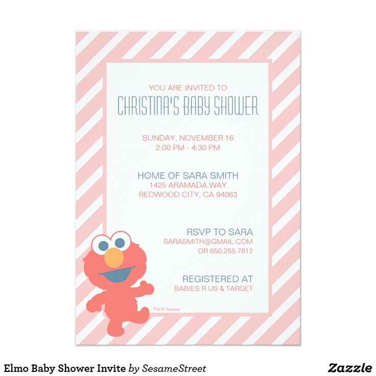 Elmo Baby Shower Invite It's baby face Elmo! © 2014 Sesame Workshop. www.sesamestreet.org