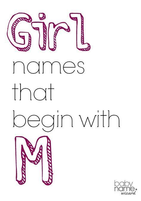 Girl Names Starting With M That Includes Meanings, Origins -8387