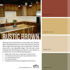 rustic modern kitchen wall colors   Color Palette to go with our Rustic Brown kitchen cabinet ...