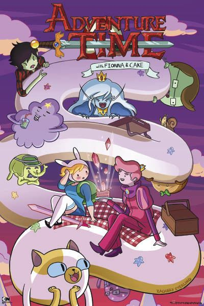 "ADVENTURE TIME POSTER ""Fiona And Cake"" Cartoon Network NEW LICENSED"