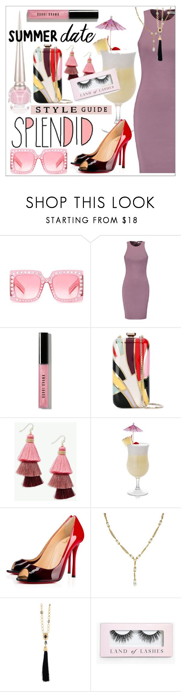 """""""Smokin' Hot * Summer Date"""" by calamity-jane-always ❤ liked on Polyvore featuring Gucci, Elizabeth and James, Bobbi Brown Cosmetics, Elie Saab, Panacea, Chloé, Christian Louboutin, Chanel, Oscar de la Renta and Boohoo"""